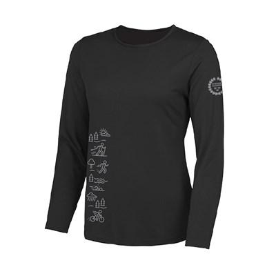 T-shirt långärmad Dam